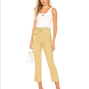 Brand new Tularosa yellow checkered pants